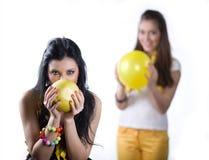 девушка плодоовощ воздушного шара Стоковое Фото