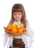 девушка плодоовощ немногая Стоковые Фото