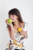 девушка плодоовощ Стоковое Изображение