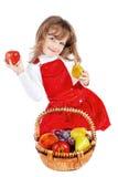 девушка плодоовощ Стоковая Фотография