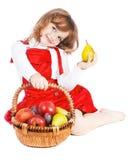 девушка плодоовощ Стоковые Фотографии RF