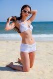 девушка пляжа красивейшая Стоковое Фото