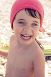 девушка пляжа младенца Стоковое фото RF