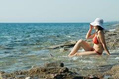 девушка пляжа Стоковая Фотография