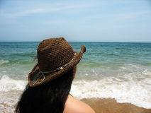 девушка пляжа Стоковые Фото
