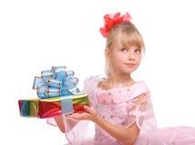 девушка подарка коробки Стоковое Фото