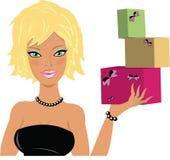 девушка подарка Стоковое Изображение RF