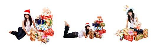 девушка подарков стоковые изображения rf