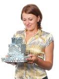 девушка подарков Стоковое Изображение RF