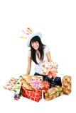 девушка подарков Стоковая Фотография