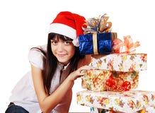 девушка подарков Стоковая Фотография RF