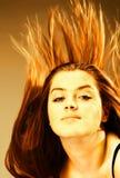 девушка пожара стоковое фото rf