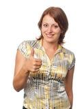 девушка показывает знак Стоковое Фото