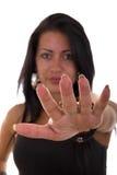 Девушка показывает ногти Стоковое Фото