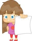 Девушка показывая ее результат бумаги для теста Иллюстрация вектора