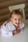 Девушка показывая язык Стоковое Изображение RF