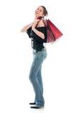 Девушка покупкы стоковая фотография rf