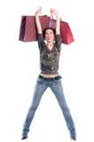 Девушка покупкы стоковое фото rf