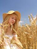 девушка поля Стоковая Фотография
