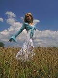девушка поля Стоковое Фото