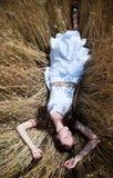 девушка поля Стоковое Изображение