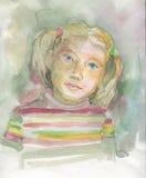 Девушка портрета малая Стоковые Изображения