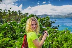 Девушка портрета милая в Доминиканской Республике стоковое изображение rf