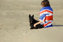 Девушка портрета на пляже Стоковые Фото