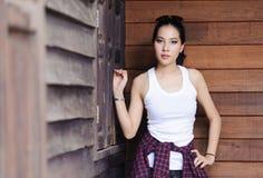 Девушка портрета тайская красивая Стоковое Фото