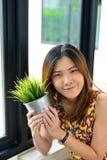 Девушка портрета тайская стоковые фото