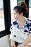 Девушка портрета тайская стоковая фотография