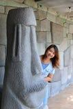 Девушка портрета тайская Стоковые Изображения