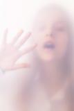 Девушка подростка в тумане Стоковое фото RF