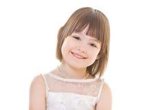девушка предпосылки немногая белое Стоковая Фотография RF