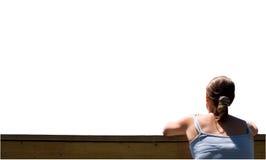 девушка предпосылки смотря бела Стоковое фото RF
