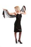 девушка представляя белизну Стоковая Фотография RF