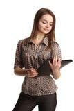 девушка представляя белизну Стоковое Фото