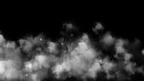 Девушка призрака в терроре ночи тумана сток-видео
