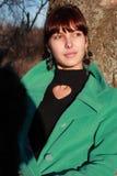 Девушка против стены Стоковая Фотография RF
