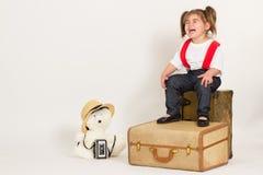 Девушка продаж младенца стоковая фотография