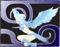 девушка птицы Стоковые Фотографии RF