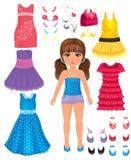Девушка платья бесплатная иллюстрация