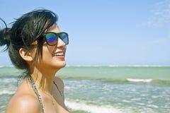 Девушка пляжа стоковые изображения rf