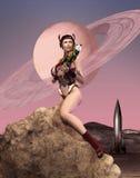 Девушка Ракеты Стоковые Изображения RF