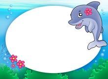 девушка рамки дельфина круглая