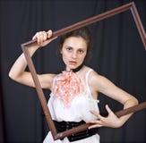 девушка рамки Стоковые Изображения