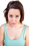 Девушка расстроена Стоковые Изображения