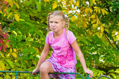Девушка ребенка в боли Стоковые Фото