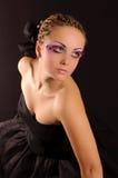 девушка ресниц Стоковое Фото
