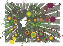 девушка ретро Стоковое Изображение RF